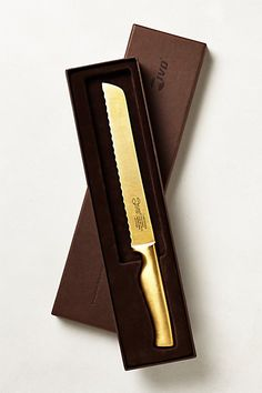 24-karat gold-plated stainless steel carving knife - for the bride/groom who has everything.