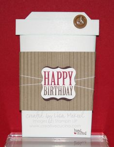 Coffee cup slider card template and tut Birthday Coffee, Birthday Cup, Happy Birthday, Scrapbooking, Scrapbook Cards, Gift Cards Money, Slider Cards, Coffee Cards, Shaped Cards
