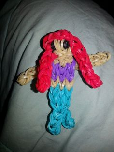 SUCH an ADORABLE rainbow loom action figure!! Perfect for any Little Mermaid fan! BRAND NEW ITEM Disney Princess Ariel The by RainbowLoomLover, $6.00