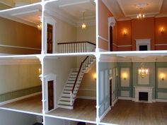 Specialised in the creation of hand built, fully decorated, birch plywood 1/12th scale Georgian and Regency dolls houses