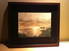 """Abstract Art """"Cottage Sunset"""" Acrylic on Canvas 20"""" x 24"""" $125.00 (framed) Website:  www.facebook.com/fayes.art"""