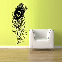 Wall Vinyl Sticker Decals Decor Art Feather by StickersForLife, $27.99...for Cats bedroom
