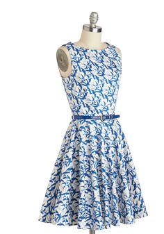 Luck Be a Lady Dress in Avian   Mod Retro Vintage Dresses   ModCloth.com