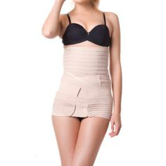 ee0daba469ef2 3 in 1 Multifunction Invisible Nude Recovery Postpartum Belly Belt C-section  Shapewear Belly Band Slimming Tummy Stripe Belt