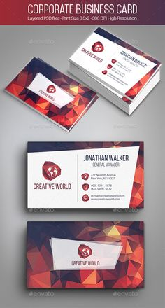Creative Corporate Business Card Template PSD | Buy and Download: http://graphicriver.net/item/creative-corporate-business-card-002/9741518?ref=ksioks