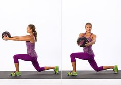 Reverse Lunge With Twist: This lunge variation works the entire body, and adding the twist ensures that your abs get a little extra attention.