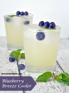 Quench your thirst with this adult lemonade cocktail. A deliciously refreshing adult libation, the Blueberry Breeze Cooler goes down smoothly. Limeade Drinks, Vodka Lemonade, Lemonade Cocktail, Cocktail Drinks, Party Drinks, Fun Drinks, Alcoholic Drinks, Beverages, Blueberry Lemonade