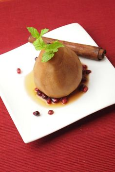 Pomegranate Poached Pears Recipe