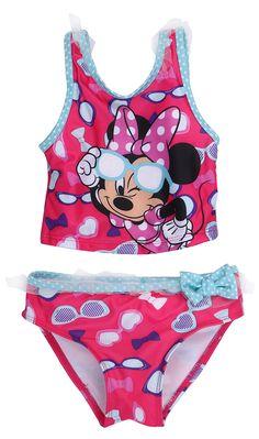 赤ちゃんの女の子水着ミニーマウス入浴子供gilr漫画水着のtankinis子ビキニ