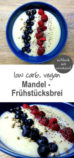 low carb Mandel-Frühstücksbrei vegan mingau de café da manhã com amêndoa baixa em carboidratos Low Carb Lunch, Low Carb Breakfast, Low Carb Diet, Vegan Breakfast, Breakfast Recipes, Vegan Keto, Vegan Pizza, Low Carb Desserts, Low Carb Recipes