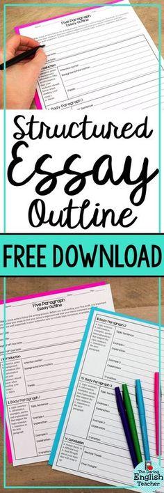 006 Free Blank Printable FiveParagraph Essay Organizer