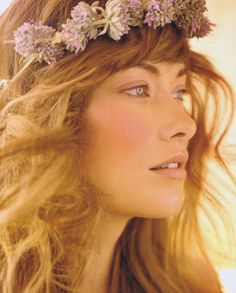 The Big Time: Olivia Wilde by Carter Smith for Allure Magazine Oct. 2011 The flower crown: so sweet~ what is that flower? Olivia Wilde, Soft Makeup, Makeup Looks, Hair Makeup, Makeup Style, Natural Makeup, Ethereal Makeup, Fresh Makeup, Natural Eyes