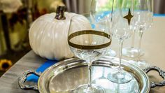 DIY Starburst Cocktail Glasses for Thanksgiving! DIY by @kennethwingard on Home and Family!
