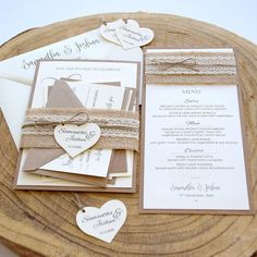 Lace Wedding Invitations Kit inspired by the rustic weddings. The addition of the natural burlap and cream lace on the belly band turns this invitation simply perfect. This lace Wedding Invitation includes full assembly, as you see online with rsvp addressing included. Wedding Invitation Kits, Laser Cut Wedding Invitations, Destination Wedding Invitations, Invites, Rustic Wedding Stationery, Rustic Weddings, Wedding Tips, Wedding Table, Wedding Styles
