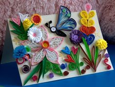 Creative Art And Craft Work Beautiful Butterfly Paper Quilling Designs
