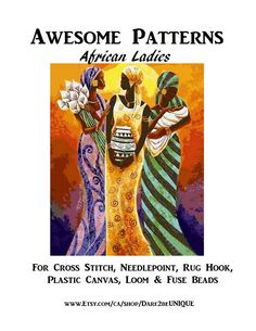 African Ladies PRINTABLE Cross Stitch PATTERN, Plastic Canvas Perler Needlepoint Tapestry Rug Hooking Pattern, Africa Digital Download Pdf by Dare2beUNIQUE on Etsy Just Love, All You Need Is, Rug Hooking Patterns, Crochet Blanket Patterns, Cross Stitch Needles, Cross Stitch Patterns, Cross Stitch Finishing, Simple Prints, Perler Patterns