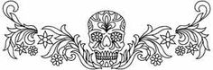 Flowered Skull Border design (UTH3017) from UrbanThreads.com - they also have some Machine Embroidery that is awesome.  This is $1
