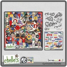 Love this kit by Chelle's Creations!!  Gymnastics Bundle