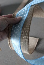 Susie Harris: Burlap Bows DIY reminds me of a its a boy wreath Burlap Projects, Burlap Crafts, Wreath Crafts, Diy Wreath, Mesh Wreaths, Burlap Wreaths, Wreath Ideas, Craft Projects, How To Make Wreaths