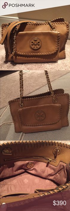 Tory Burch bag- Authentic- beautiful bag- Goes with everything! Love the color. Also available at M for less $ Tory Burch Bags Shoulder Bags