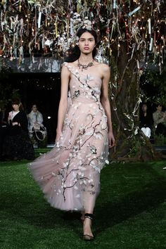 Dior Unveils Stunning Cherry Blossom-Inspired Couture Gowns in Tokyo   - HarpersBAZAAR.com