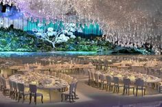 Design Lab Events creation 15,000 light sticks, 65,000 twinkling Swarovski crystals and 4000 paper cranes