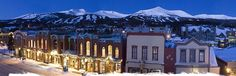 Breckenridge is an hour away and a million miles from home.  One of our favorite mountain towns.