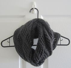 SOLD  Grey Scarf // Infinity Scarf // With a Twist // by itsCOWLdoutside, $28.00