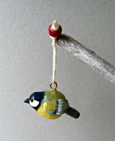 Polymer Clay Bird Ornament  Christmas Tree by ErinlesHouse on Etsy #europeanstreetteam