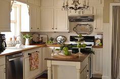 Cream & green kitchen