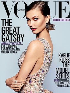 Gatsby style: Karlie Kloss by Arthur Elgort for Vogue Australia May 2012 Vogue Magazine Covers, Fashion Magazine Cover, Fashion Cover, Vogue Covers, Karlie Kloss, Arthur Elgort, Lauren Hutton, Carey Mulligan, Vogue Australia