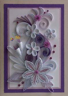 *QUILLING: page is not in English, but good photos for pinspiration