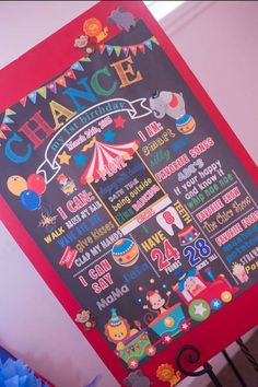 What a fun sign at a circus birthday party! See more party planning ideas at CatchMyParty.com!