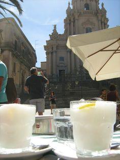 Lemon granita in Ragusa Ibla 2010