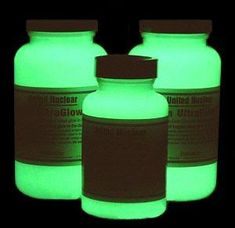 How To Make Your Own - DIY Glow In The Dark Paint i wonder if you could paint stepping stones so the glowed at night - Garden Chic