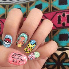 nails art pokemon go #manucure #nailart #ongles #PokemonGo #Pikachu #AtttrapezLesTous #Pokemon #tendance #monvanityideal