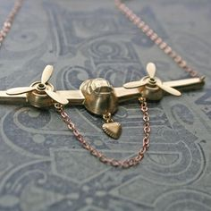 Chain Chain chained: On The Wings Of Love Necklace now featured on Fab.