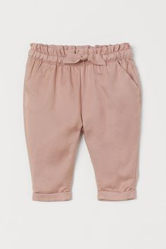 Dress Outfits, Girl Outfits, H&m Online, Fashion Company, Leggings Are Not Pants, Ruffle Trim, Dusty Rose, Woven Fabric, World Of Fashion