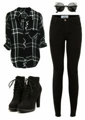Black Flannel Fashion Outfit Ideas Stylebook Fall Fashion Womens Fa Informations About Schwarze Flanell Mode Flannel Fashion, Flannel Outfits, Hipster Outfits, Teen Fashion Outfits, Cute Casual Outfits, Fashion Mode, Mode Outfits, Grunge Outfits, Outfits For Teens