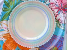 I have a little of this in my collection. Love Vintage Petalware. This is the pastel stripes pattern.