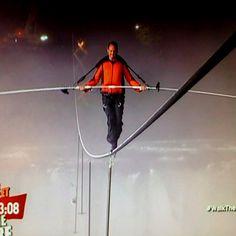 Nik Wallenda walks Niagara Falls! I couldn't watch in real time...yikes!
