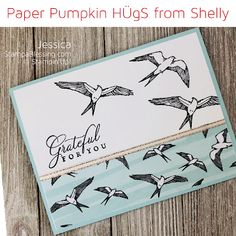 Stamp a Blessing: Learn to make 3 bows and a loop for your Cards! Stampin Up Paper Pumpkin, Pumpkin Cards, Paper News, Scrapbooking, Stamping Up Cards, Bird Cards, Sympathy Cards, Paper Cards, How To Make Bows