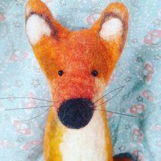 Fox Reineke #felting #wetfelting #filcowanie #filcowa #wool #felt #filzen #feltfox in my Shop, see in my profile