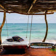 Azulik hotel in Tulum. beach. travel. traveling. holiday. vacation. vacay. Mexico. honey moon