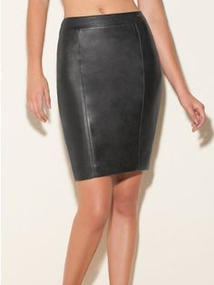 293d3eb445 interesting $89.00 Black Leather Pencil Skirt, Faux Leather Skirt, Casual  Elegance, Women