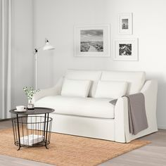 FÄRLÖV Sleeper sofa, Flodafors white - IKEA Sofa Bed For Small Spaces, Small Guest Rooms, Small Space Living, Small Space Bed, Ikea Small Spaces, Mattress Covers, Foam Mattress, Small Sleeper Sofa, Sleeper Sofas