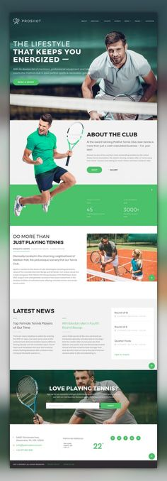 ProShot - Tennis Club Responsive WordPress Theme CMS & Blog Templates, WordPress Themes, Sports, Outdoors & Travel, Sport Templates, More Sports, Tennis Templates ProShot is a beautiful template for a sports website with a pixel-perfect typography and clean layouts. It's a great choice for tennis clubs, coaches who provide tennis lessons and training, as wel...