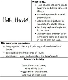 At play with baby: hello hands! | Teach Preschool                                                                                                                                                      More