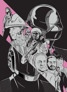 "Daft Punk ""RAM"" Poster by Greg Bunbury"