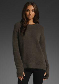 SIWY JEANS Pallenberg Thumb Hole Sweater in Feather - Siwy Jeans